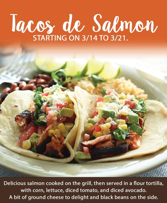 Lent Specials salmon tacos