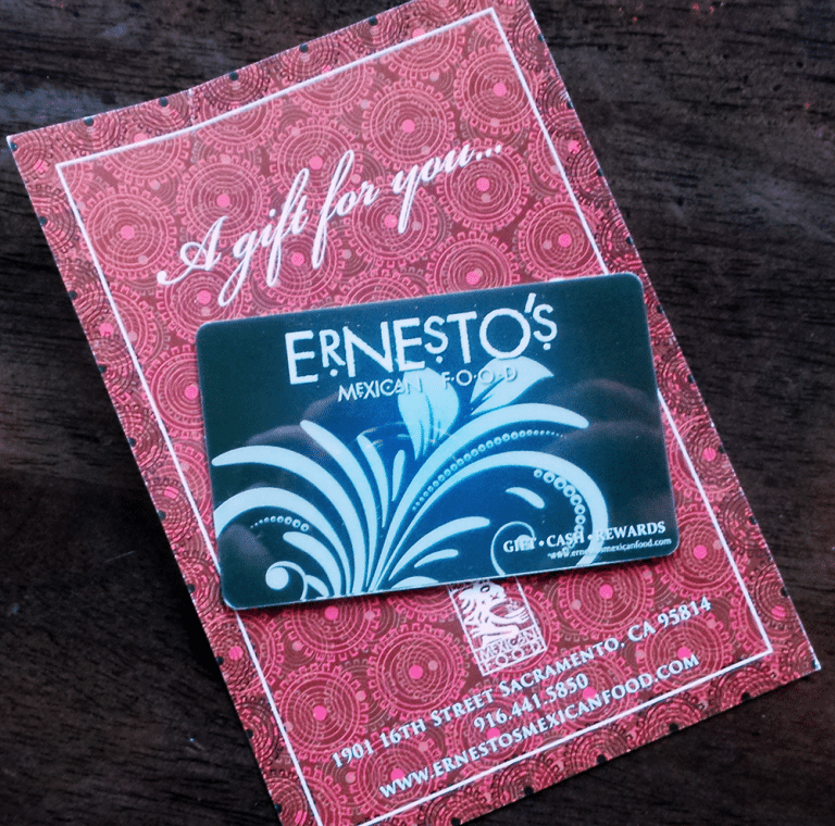 Ernesto's Gift Cards