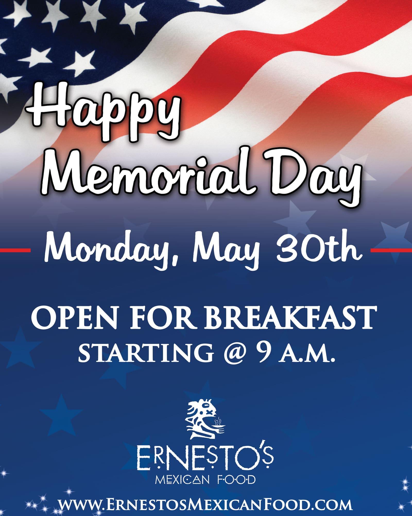 Memorial Day Breakfast memorial social
